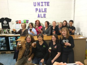 The Brewsters (lady brewers) of the Unite brew.