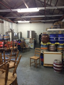 Brewing Equipment on one end.