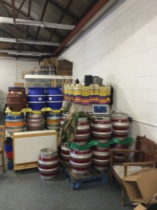 Firkin storage.