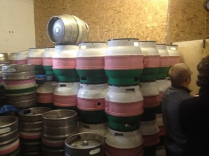Empty Firkin stockpile from Outstanding Beer Company in Bury.