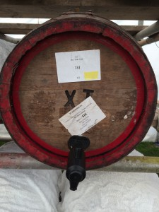 An active wooden firkin. The only one of the 750 firkins at Reading 2014