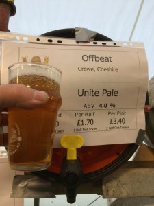 Here is a Unite beer brewed by Brewsters and part of the same Unite brewing that I brought over to London from Capital City Brewing Company.