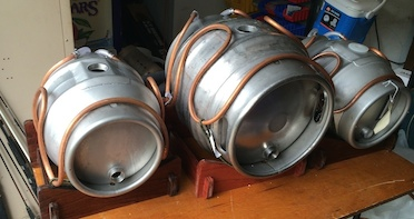 Cooling saddles on casks with the insulated jack off.