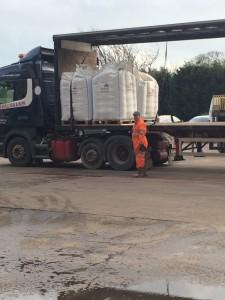 Malted barley leave on trucks
