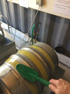 Clean up the outside of the firkin