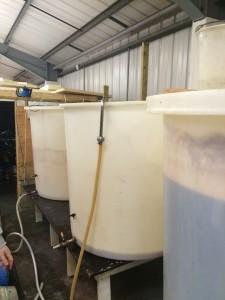 A fermentation being filled