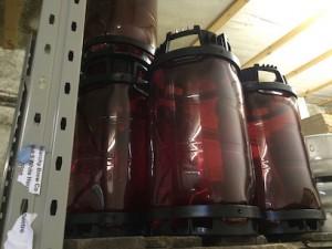 interesting disposable keg 9 UK gallons, I think.