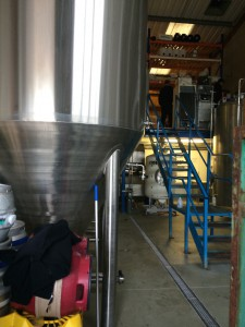 This photo is from the front of the brewery looking to the back