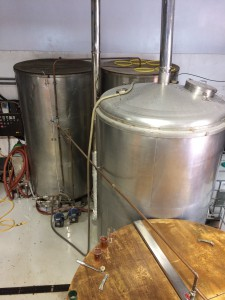 Top of Mash Tun, Copper and HTLs in the back
