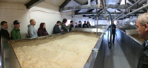 Open fermentation tanks