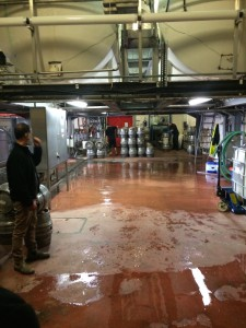 Cask cleaning/filling area